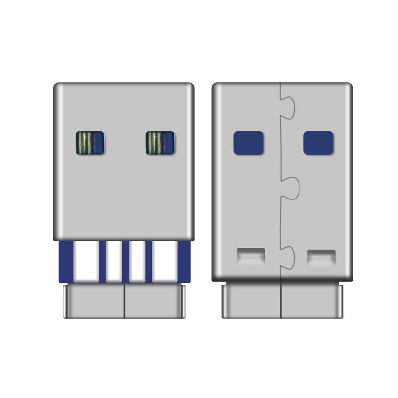 USB A公焊线式5A充电用2