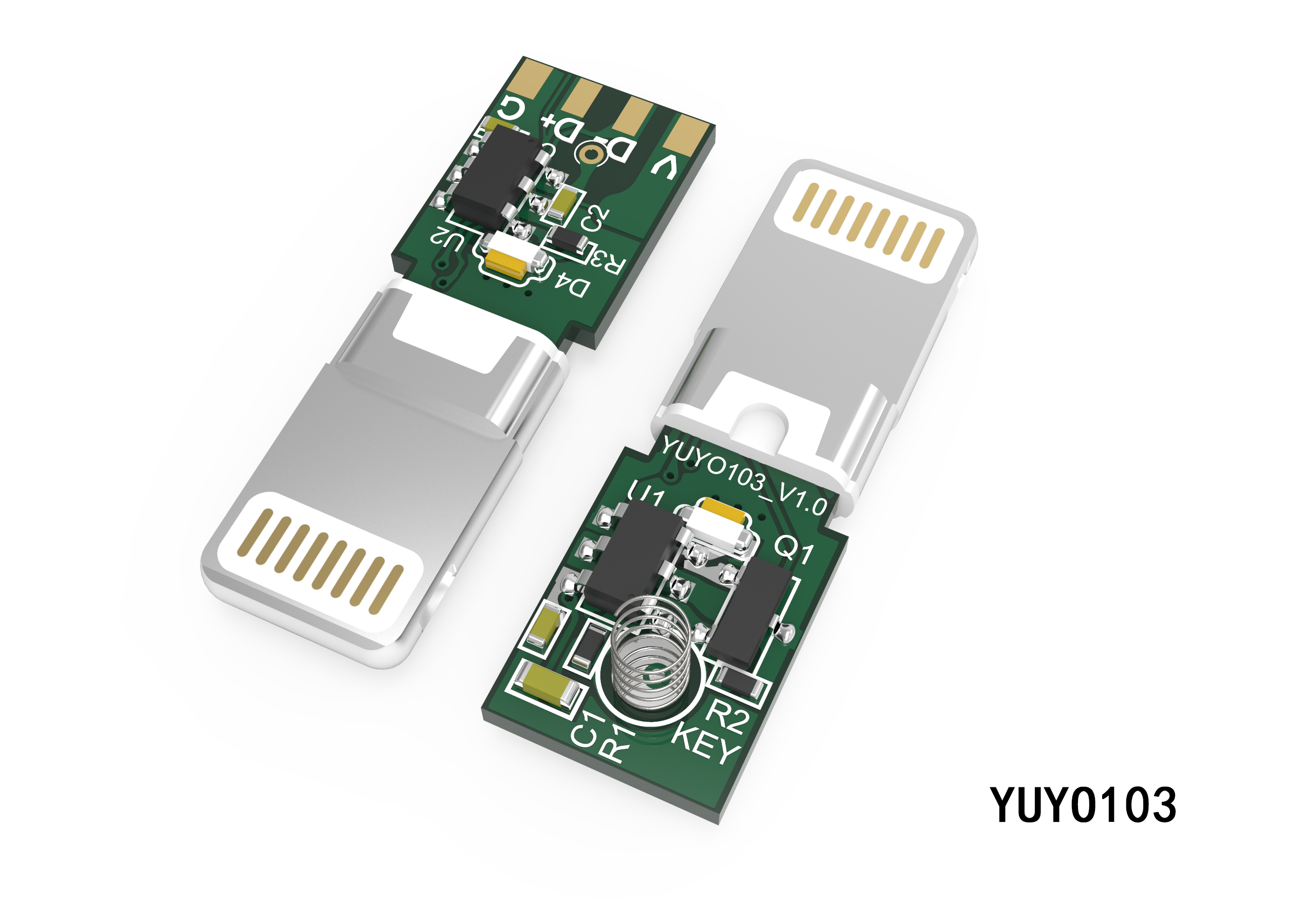 8P一体式转接头插头YUYO103