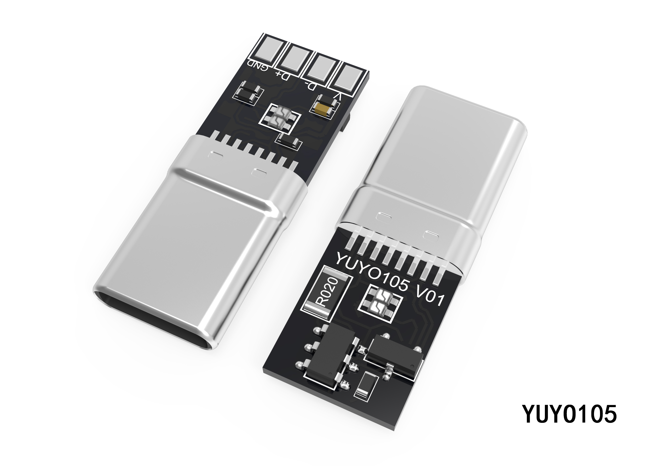 TYPE-C一体式转接头插头YUYO105