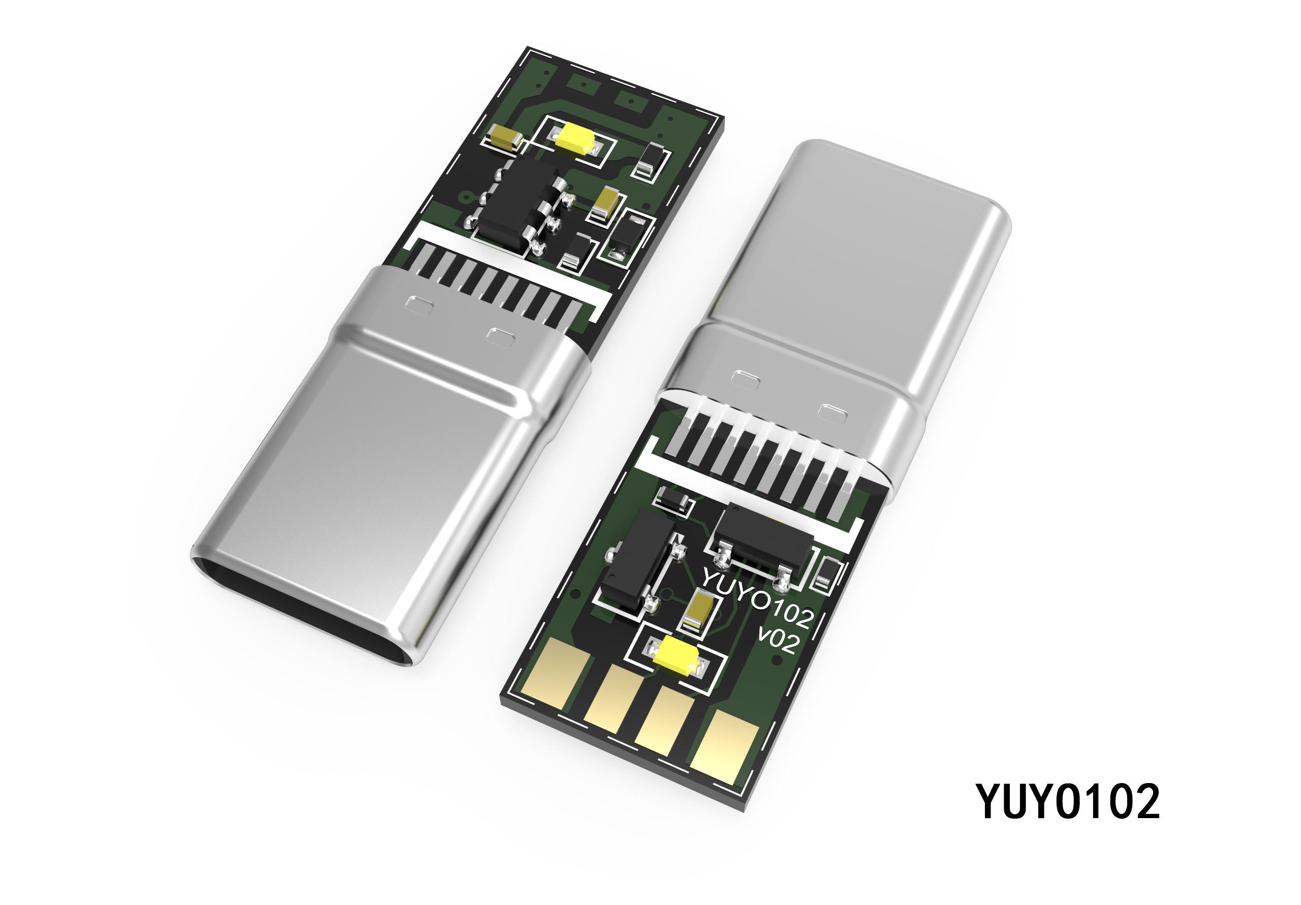 TYPE-C一体式转接头插头YUYO102