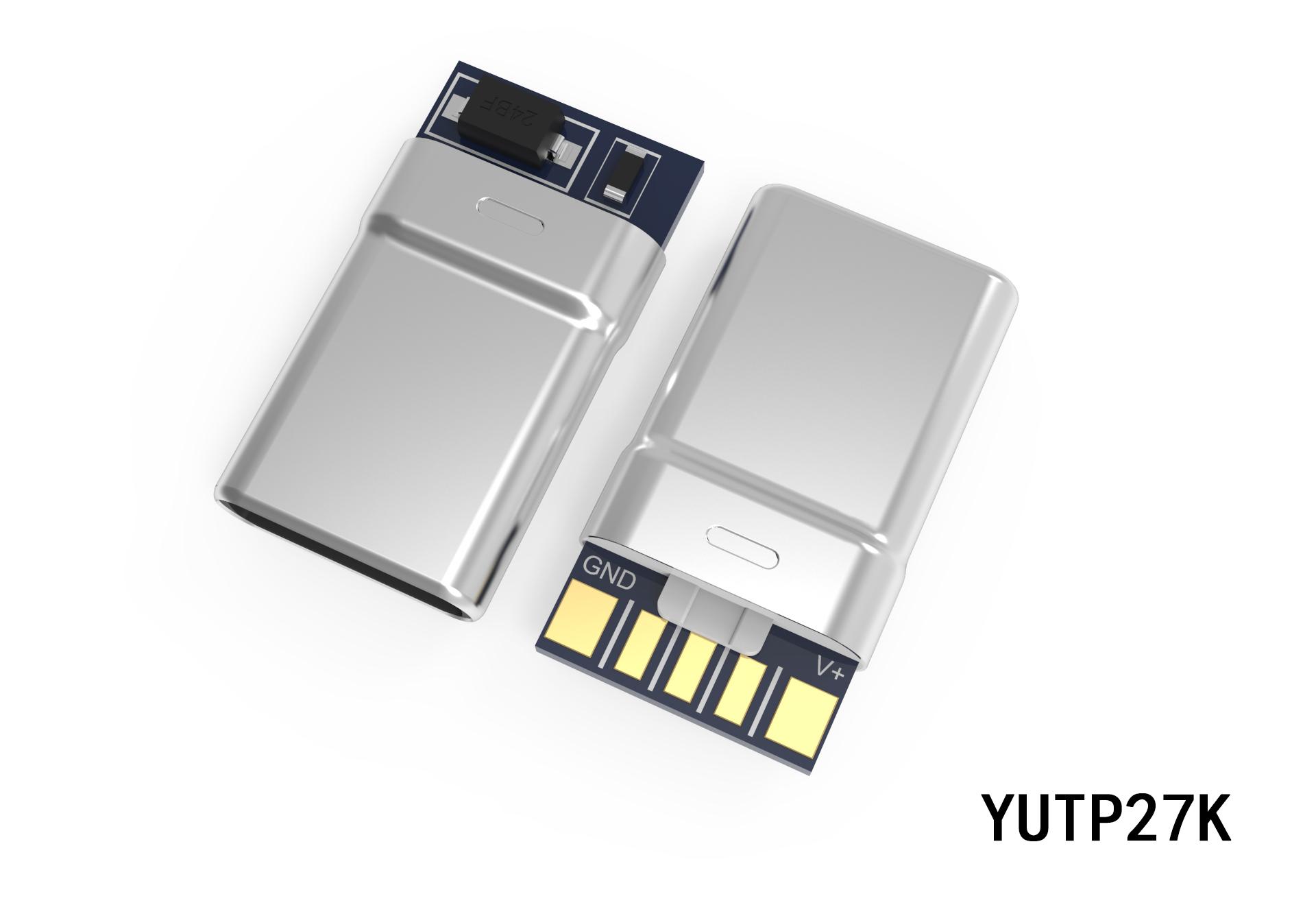 TYPE-C一体式转接头插头YUTP27K