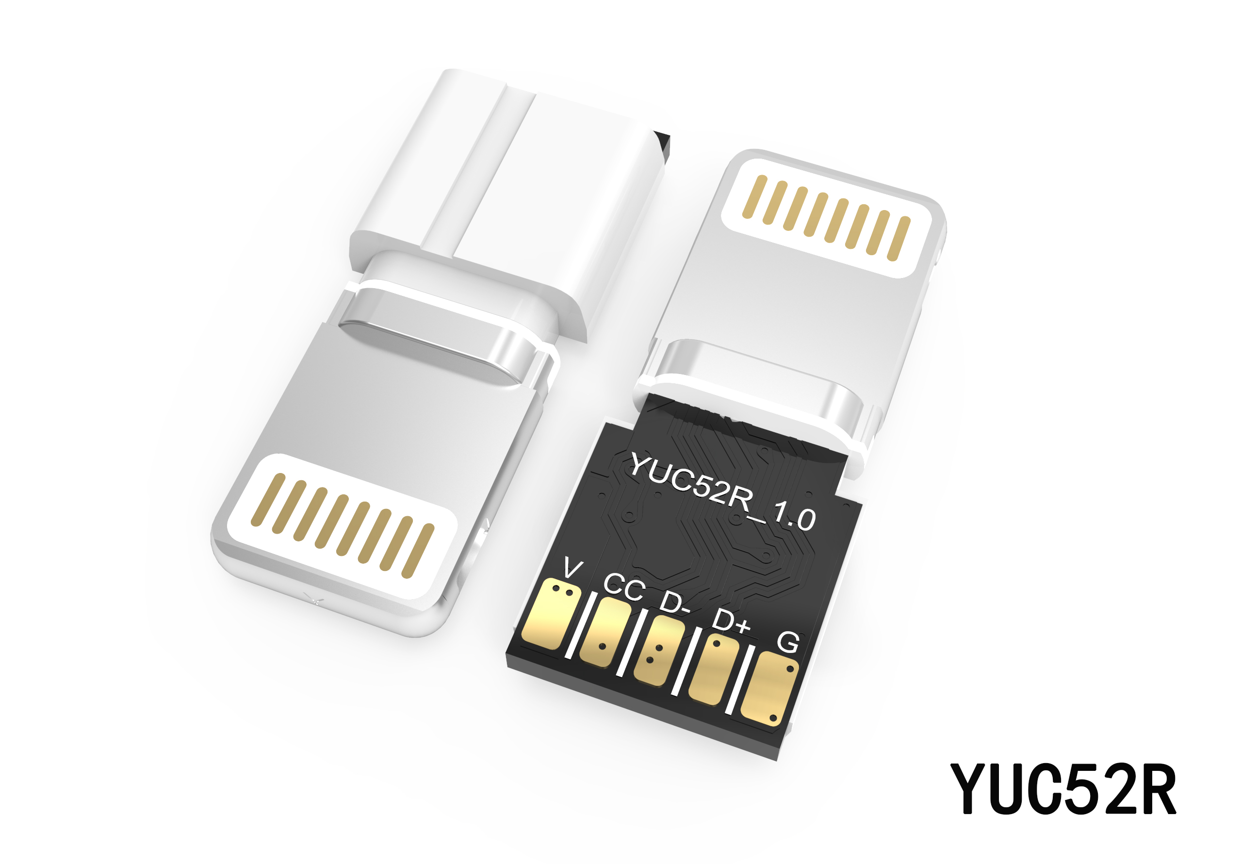 8P一体式转接头插头YUC52R