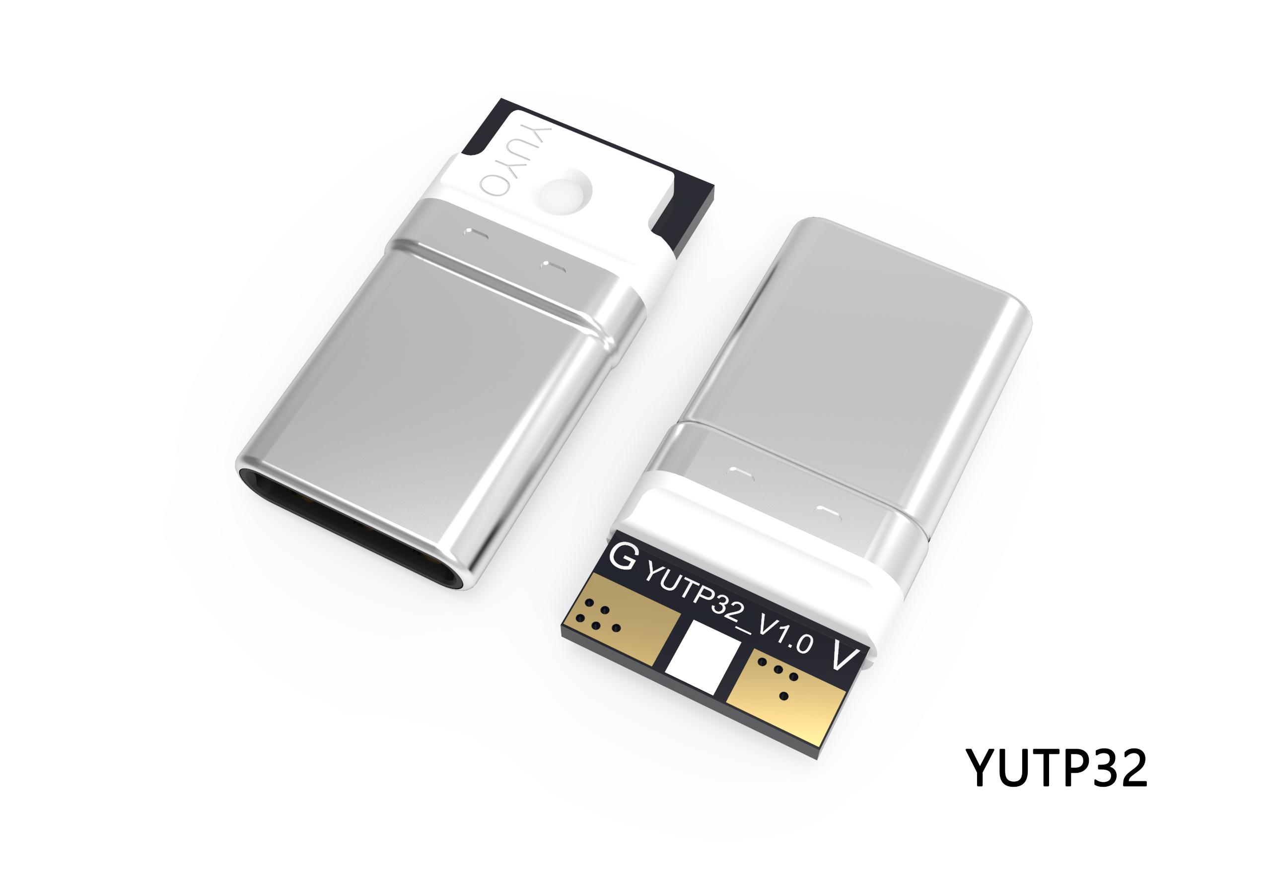 TYPE-C 2P一体式转接头插头YUTP32